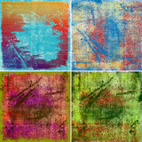 Grunge painted backrounds Royalty Free Stock Images