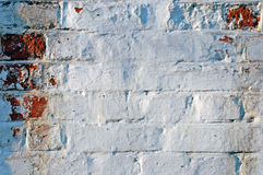 Grunge Painted Brick Wall Royalty Free Stock Images