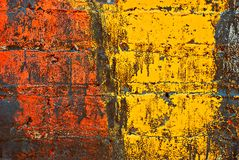 Grunge Painted Brick Wall Stock Image
