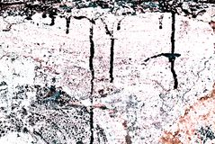 Grunge Painted Brick Wall Stock Photography