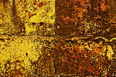 Grunge Painted Brick Wall Royalty Free Stock Photography