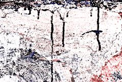 Grunge Painted Brick Wall. Deteriorating painted brick wall stylized with grunge effects (part of a photo illustration series Royalty Free Stock Photo