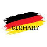 Grunge painted German Flag, handwritten lettering Germany. Royalty Free Stock Photo