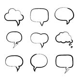 Grunge painted hand-drawn speech bubbles Royalty Free Stock Photography