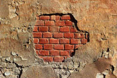 Grunge painted red brick wall background texture Royalty Free Stock Photo