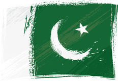 Grunge Pakistan flag. Pakistan national flag created in grunge style Stock Photo