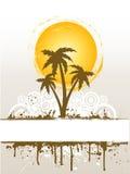 Grunge palm tree Royalty Free Stock Photos
