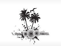 Grunge  palm tree series on white Royalty Free Stock Photo