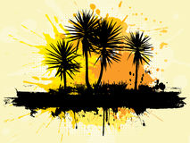 Grunge palm trees Stock Image