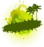 Grunge pamls green Stock Image