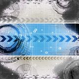 Grunge Paper. Abstract blue grunge technology background with place for text Stock Illustration