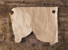 Grunge paper. Blank old paper on wood deck Royalty Free Stock Photography