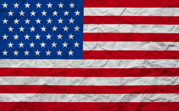 Grunge paper American USA flag Stock Photography