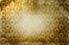 Grunge paper background with damask pattern. Royalty Free Stock Photography