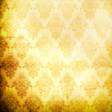 Grunge paper background with damask pattern. Stock Photo