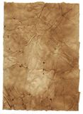 Grunge paper background isolated on white. Aged and distressed to look like ancient parchment royalty free stock photo