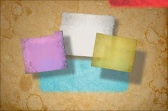Grunge paper background on multiple planes Royalty Free Stock Photo