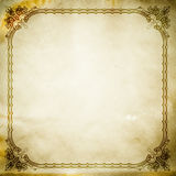 Grunge paper background with vintage border. Stock Photo
