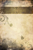 Grunge paper background with vintage patterns. Stock Images