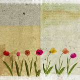 Grunge paper bakgrund Arkivfoton