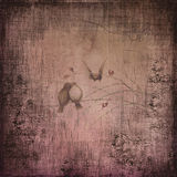 Grunge paper with birds Royalty Free Stock Image