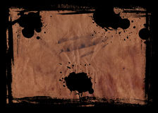 Grunge Paper with Border Royalty Free Stock Photography