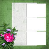 Grunge paper with bunch of flower Royalty Free Stock Images
