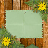Grunge paper with bunch of flower Stock Photography