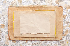 Grunge paper card. Old worn grunge paper card stock image