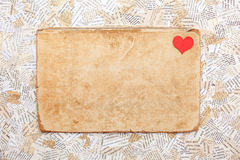 Grunge paper card with heart Stock Photo
