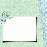 Grunge paper design for information Stock Image