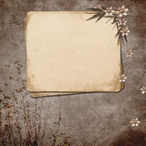 Grunge paper design for information Stock Image