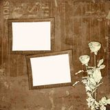 Grunge paper design in scrapbooking style Stock Photos