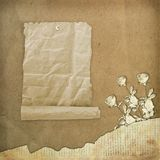 Grunge paper design in scrapbooking style Stock Images