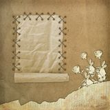 Grunge paper design in scrapbooking style Stock Photo