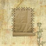 Grunge paper design in scrapbooking style Royalty Free Stock Photos