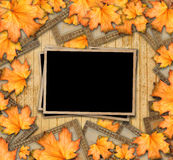 Grunge paper design in scrapbooking style with photoframe Stock Photo