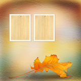 Grunge paper design in scrapbooking style with photoframe Royalty Free Stock Images