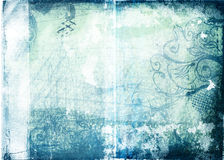 Grunge paper with designs Stock Photo