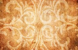 Grunge paper with floral elements Royalty Free Stock Image