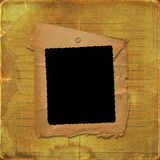 Grunge paper frame with drawing-pin Royalty Free Stock Images