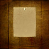 Grunge paper for invitation with thumbtacks Royalty Free Stock Photography