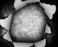 Grunge paper with large hole Royalty Free Stock Photography