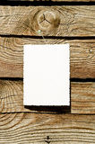 Grunge Paper On Wood Plank Stock Photo
