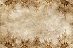 Grunge paper with ornamental frame Royalty Free Stock Images