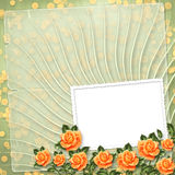 Grunge paper  with painting rose Royalty Free Stock Images