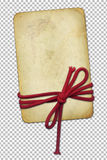 Grunge paper with rope on abstract background Stock Photo