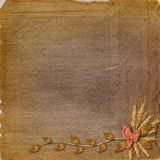Grunge paper in scrapbooking style Stock Images