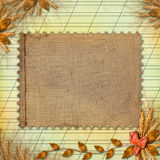 Grunge paper in scrapbooking style Royalty Free Stock Image