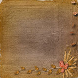 Grunge paper in scrapbooking style Royalty Free Stock Photography